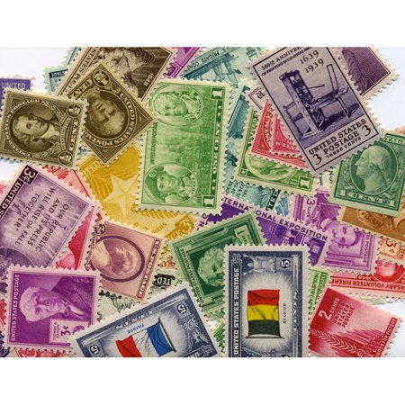 American Coin Treasures  1910s, 1920s, 1930s, 1940s US Postage Stamps (Set of