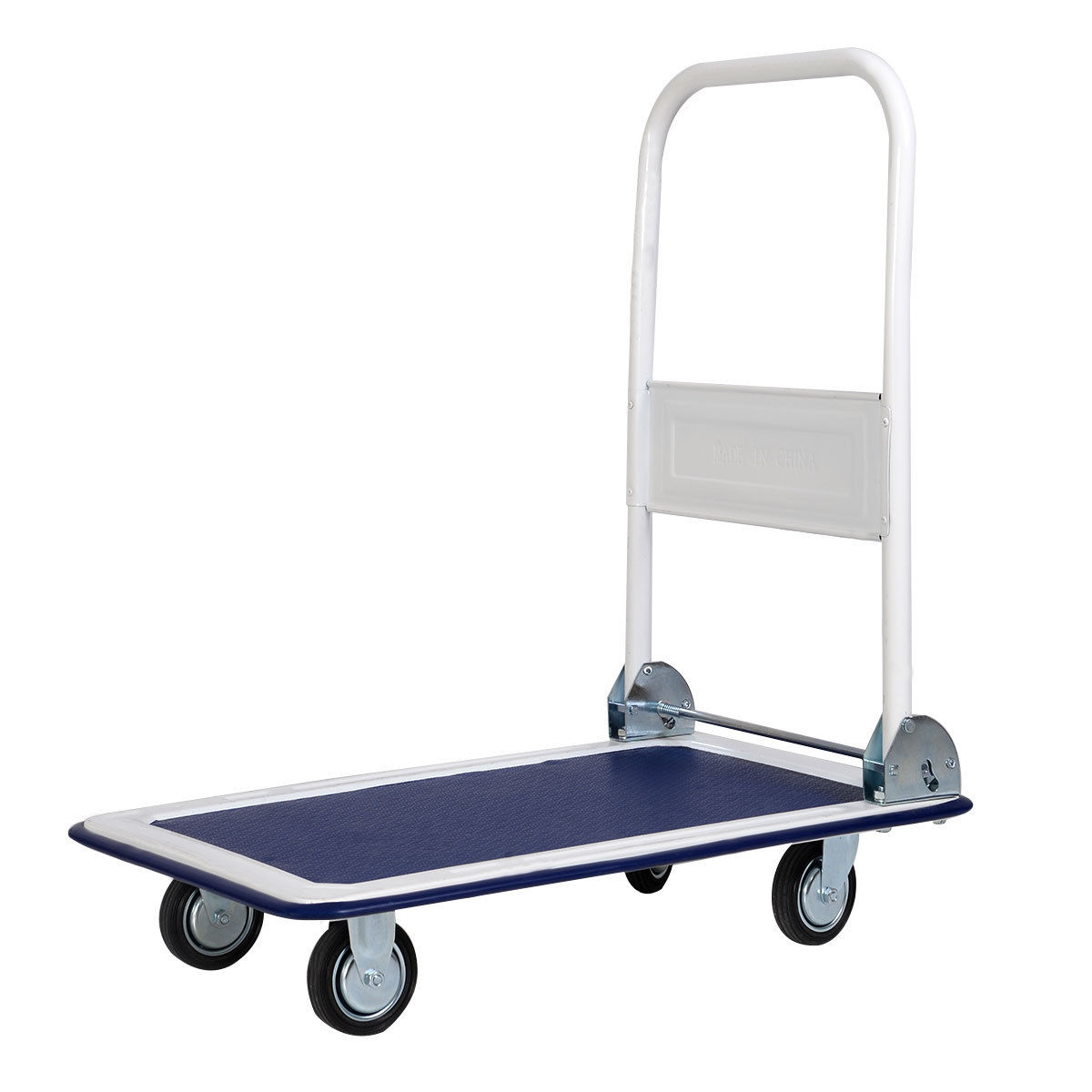Costway 330lbs Platform Cart Dolly Folding Foldable Moving Warehouse Push Hand Truck New by Costway