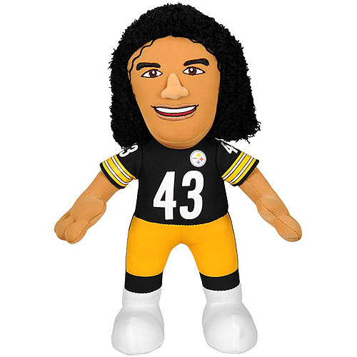 "NFL Player 10"" Plush Doll Pittsburgh Steelers, Troy Polamalu"