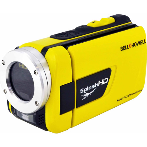 """Bell+Howell Splash WV30HD Yellow 1080p HD Waterproof Camcorder with 8x Digital Zoom, 3"""" Widescreen Display and Pre-recording Technology"""