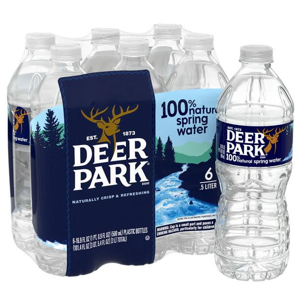 Deer Park Brand 100 Natural Spring Water 16 9 Ounce Plastic Bottle Pack Of 6 Walmart Com Walmart Com