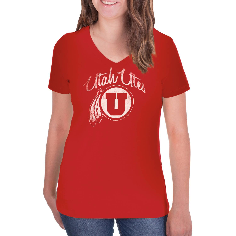NCAA Utah Utes Women's V-Neck Tunic Cotton Tee Shirt