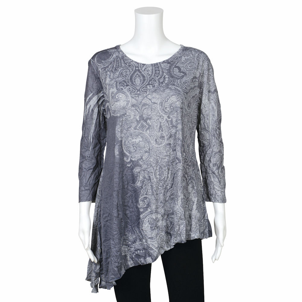 Jess Jane Women S Jess Jane Blue Gray Patchwork Pattern