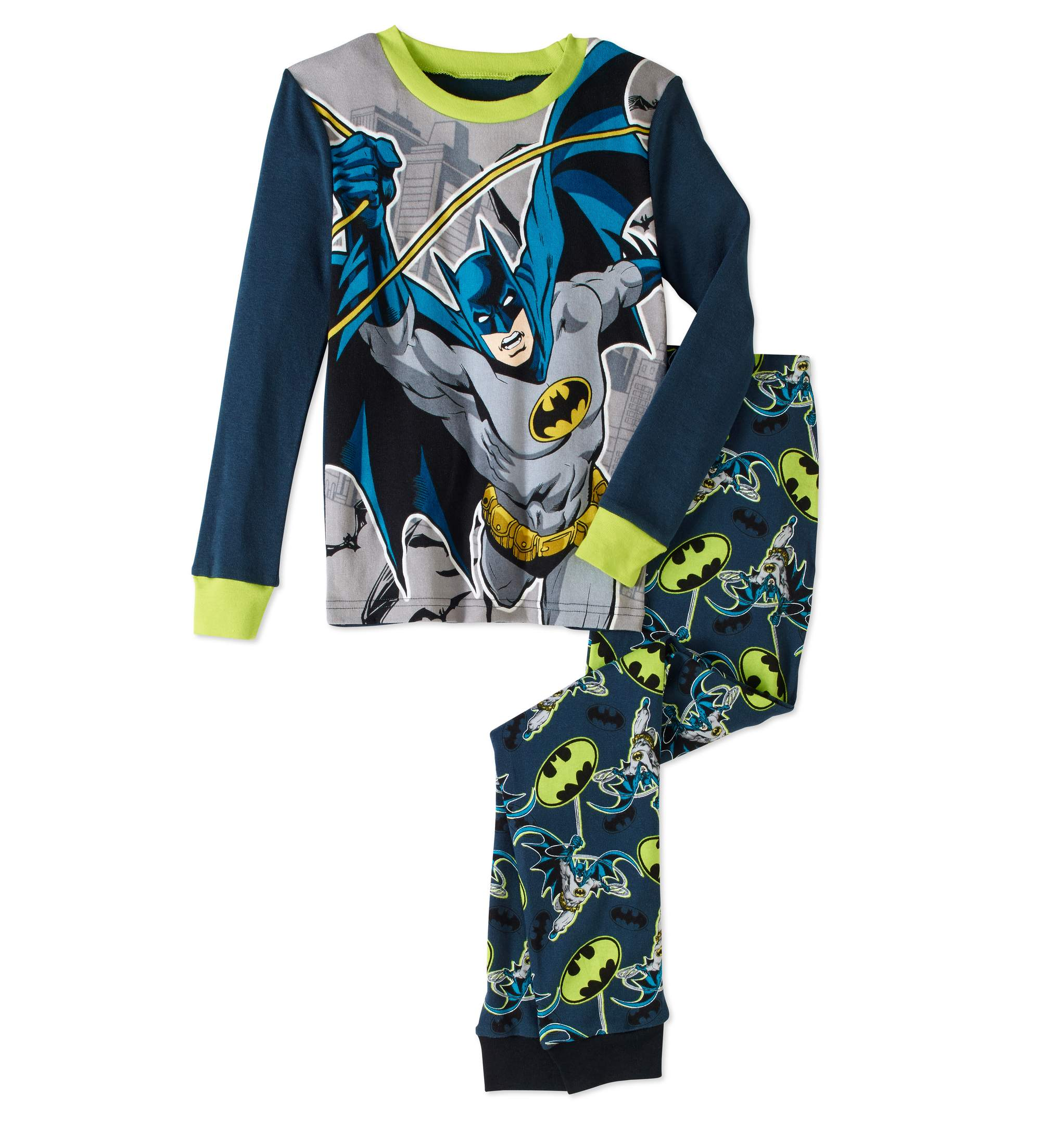 Batman Boys' Glow in the Dark 2pc Pajama Sleepwear Set by