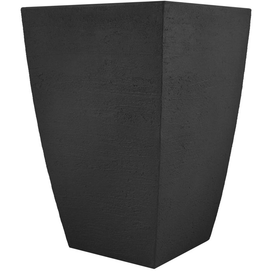 Tusco Modern Tall Square Planter, 23-Inch by Planters
