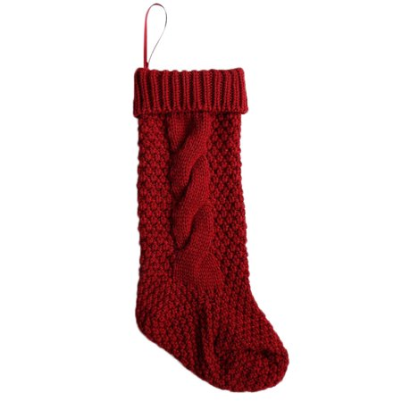 Christmas Holiday Knitted Stocking Hanging Crochet Stock Tree Ornament Decor RD](Knit Stockings Christmas)