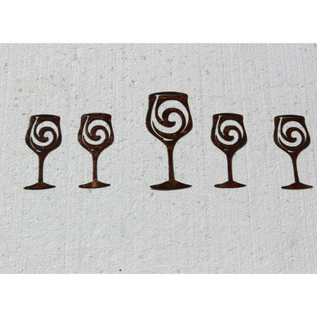 Syrah 5 Piece Wine (Say It All On The Wall 5 Piece Wine Glasses Metal Wall D cor Set)