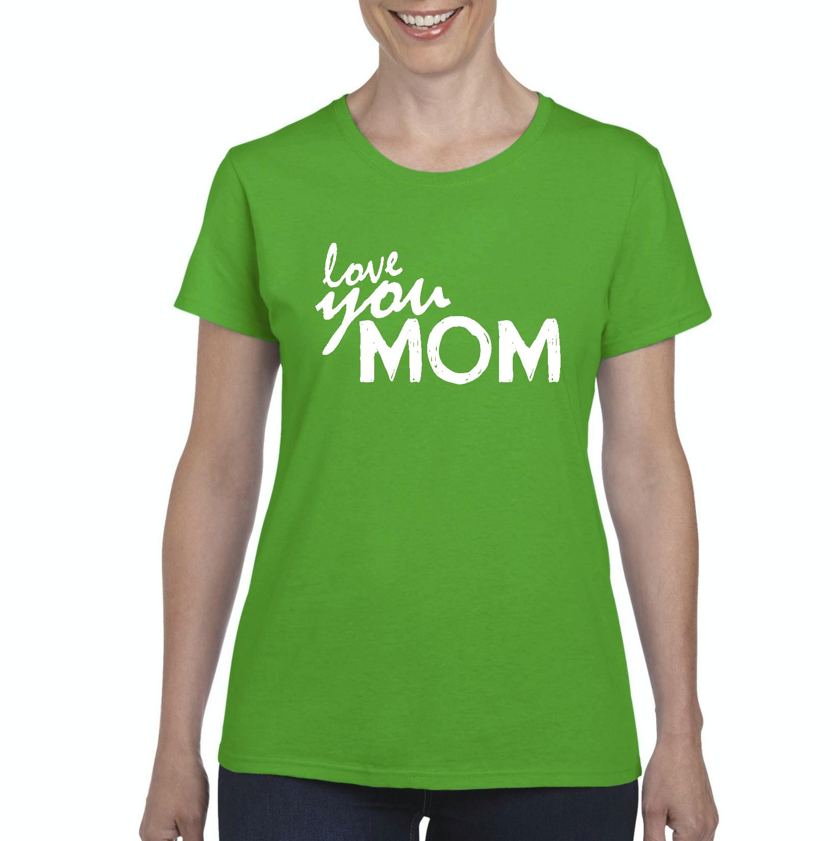 Artix Love You Mom Matching w Dad Gift for Mother's Day Birthday Christmas Women's T-shirt Tee Clothes