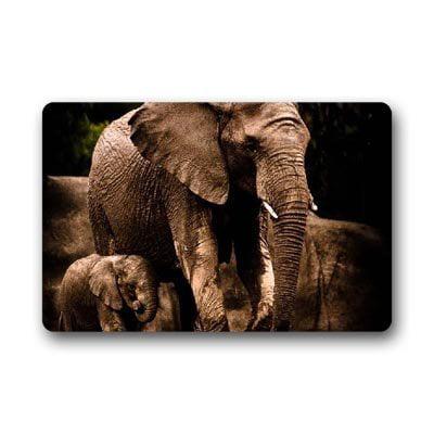 WinHome Elephant animal Doormat Floor Mats Rugs Outdoors/Indoor Doormat Size 30x18 inches