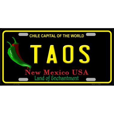 New Mexico License Plate (Taos New Mexico Black State Metal License)