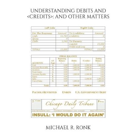 Understanding Debits And  And Other Matters