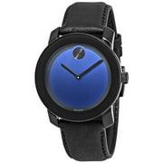 Movado Unisex Bold Large Leather Analog Quartz 42mm Watch 3600295
