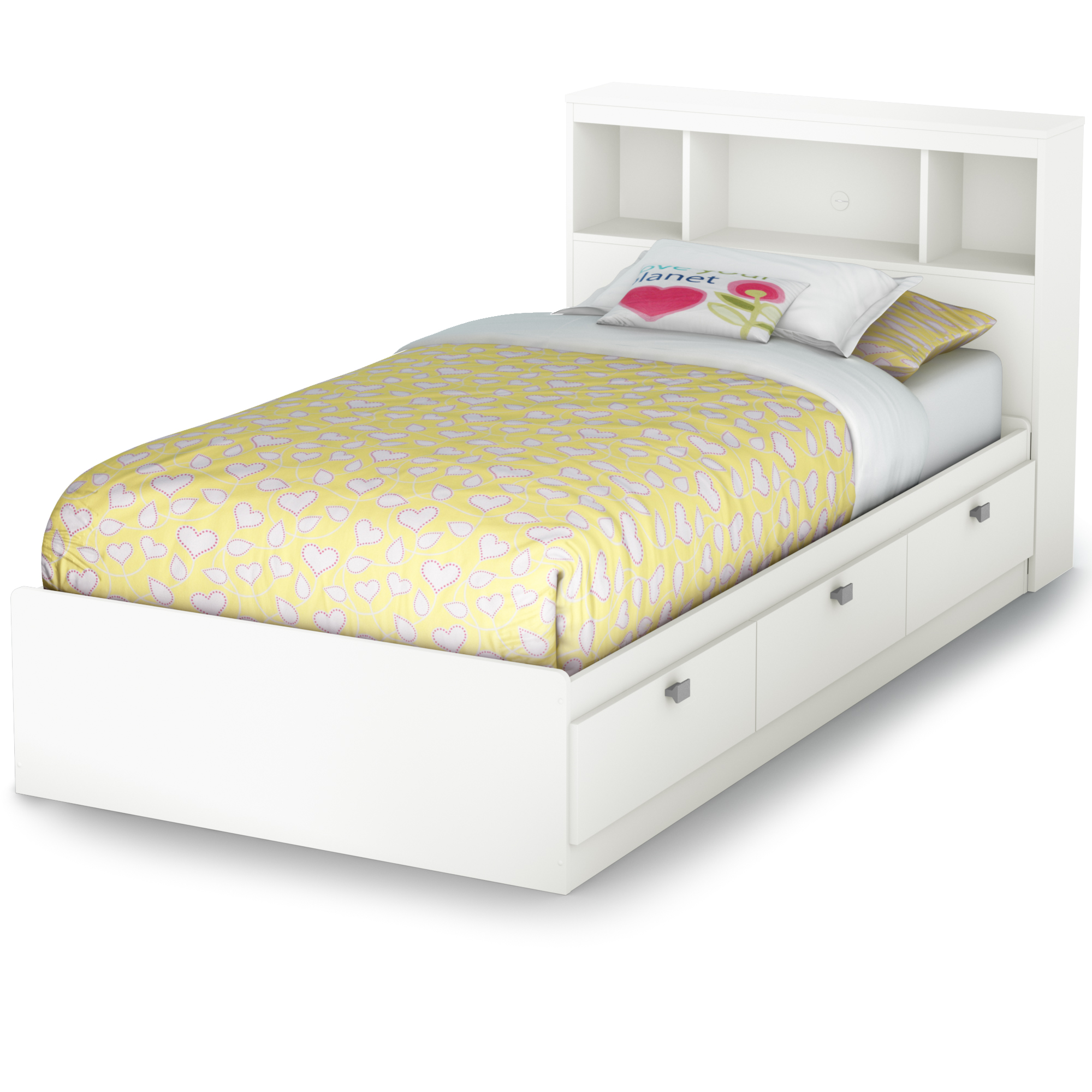 """south shore spark twin 39"""" mates bed with 3 drawers, multiple"""
