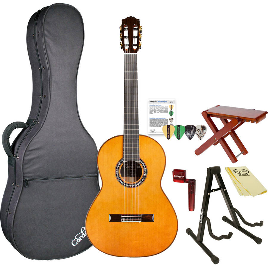 Cordoba C9 CD Parlor Acoustic Nylon String 7 8 Size Classical Guitar with Polyfoam Case... by