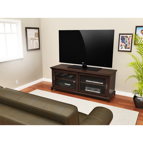 "Kearney TV Stand, For TV's up to 70"", Wood, Espresso"