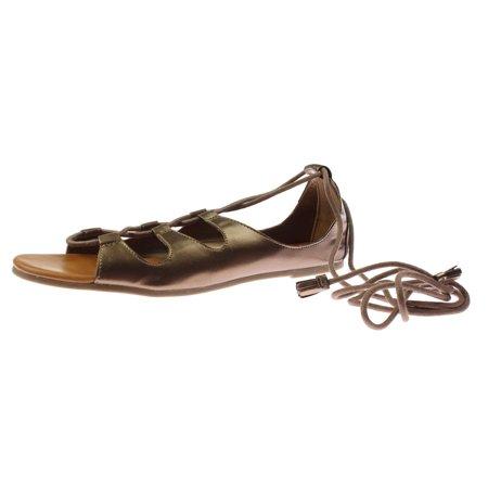 Womens Metallic Leather - Billabong Womens Break Free Faux Leather Metallic Gladiator Sandals