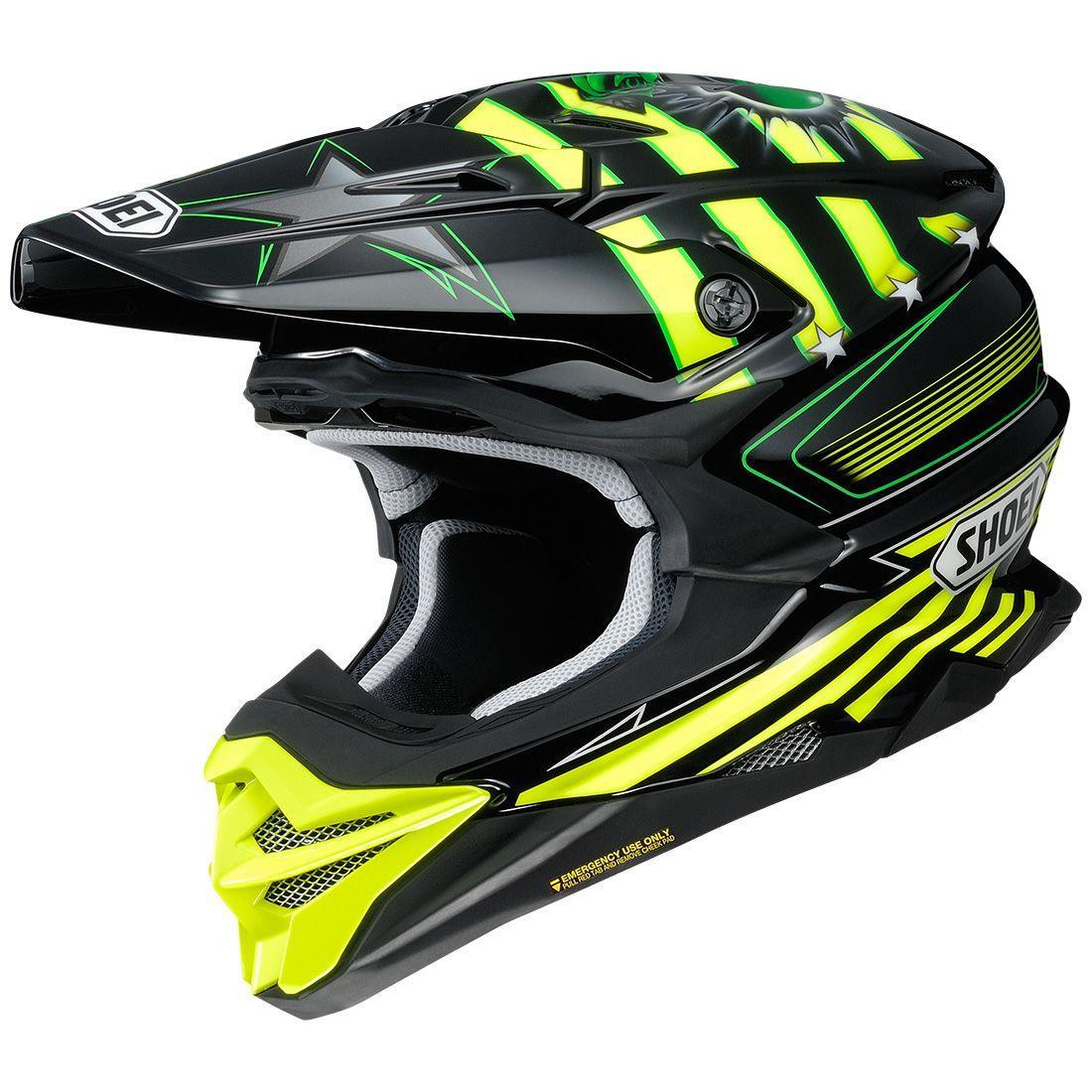 Shoei VFX-EVO Grant 3 Helmet Yellow (TC-3) (Yellow, X-Small)
