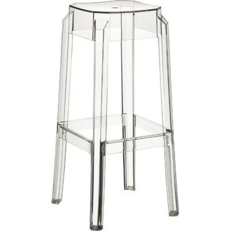 Fox Polycarbonate Counter Stool Transparent Clear