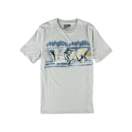 Marlin Tag - No Borders Mens Marlin Band Graphic T-Shirt