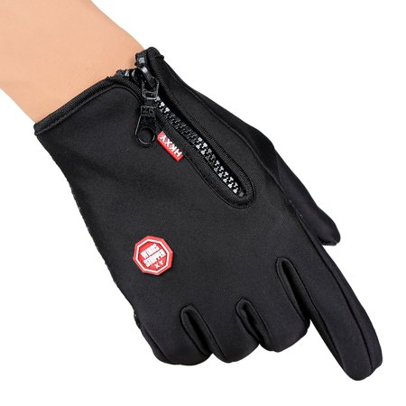 Unisex Ski Gloves Snowboard Gloves Motorcycling Touchscreen Winter Snow Windstopper Outdoor Riding Non-Waterproof Gloves - image 6 of 10