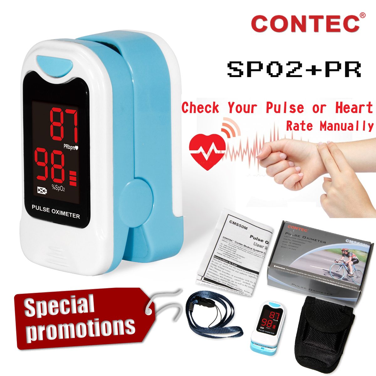 LED Finter Pulse Oximeter Oxygen saturation machine pulse oximetry SPO2 Monitor