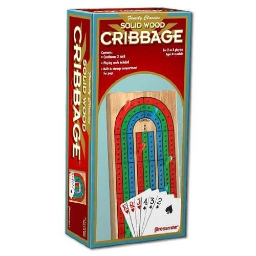 Pressman Toy Corporation Wood Cribbage with Cards