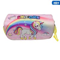 KABOER Personality Lovely Unicorn Face School Christmas Birthday Pencil Box