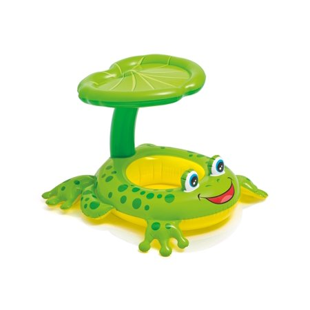 Intex Froggy Friend Shaded Canopy Baby Kiddie Pool Floating Raft |