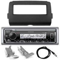 "Kenwood KMR-M325BT Marine Digital Media Bluetooth Receiver (No CD), Enrock Single-DIN Dash Kit for Select 2014-UP Harley-Davidson Models, 40"" Universal Wired Radio Antenna"