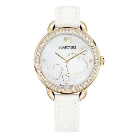 Aila Day Heart White Ladies Watch 5242514 Swarovski Crystal Heart Watch
