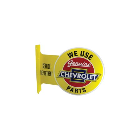 - Eckler's Premier  Products 61-253495 Chevy Metal Sign, Genuine Chevrolet Parts, Flange