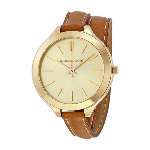 Michael Kors Women's MK2256 'Runaway' Slim Double Leather Watch
