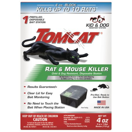 - Tomcat Rat Killer Disposable Rat & Mouse Bait Station