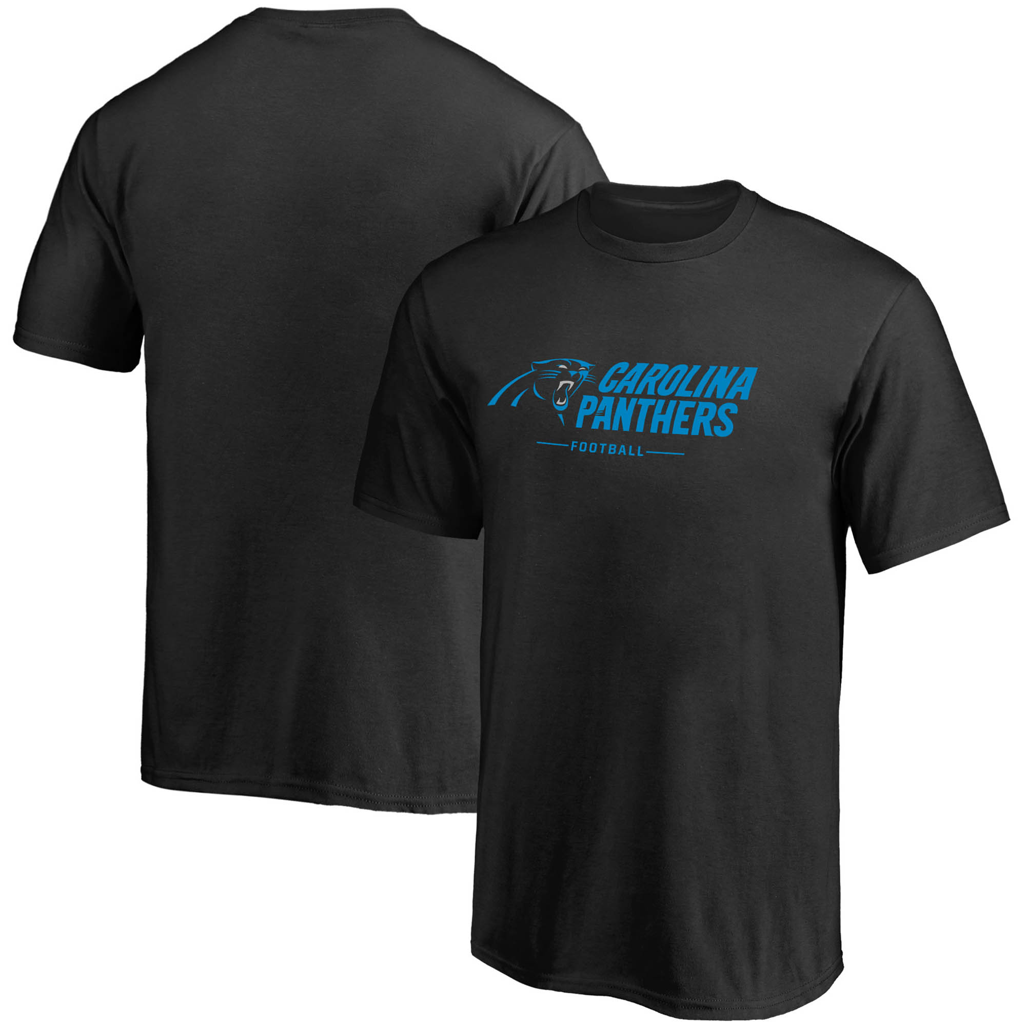 Carolina Panthers NFL Pro Line by Fanatics Branded Youth Team Lockup - T-Shirt - Black