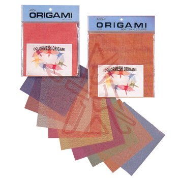Aitoh CHB-200 Color Mesh Origami Paper, 5.875-Inch by 5.875-Inch, 48-Pack Multi-Colored