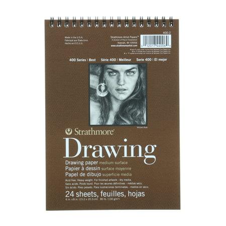 Strathmore Drawing Paper Pad, 400 Series, Medium Surface, 6