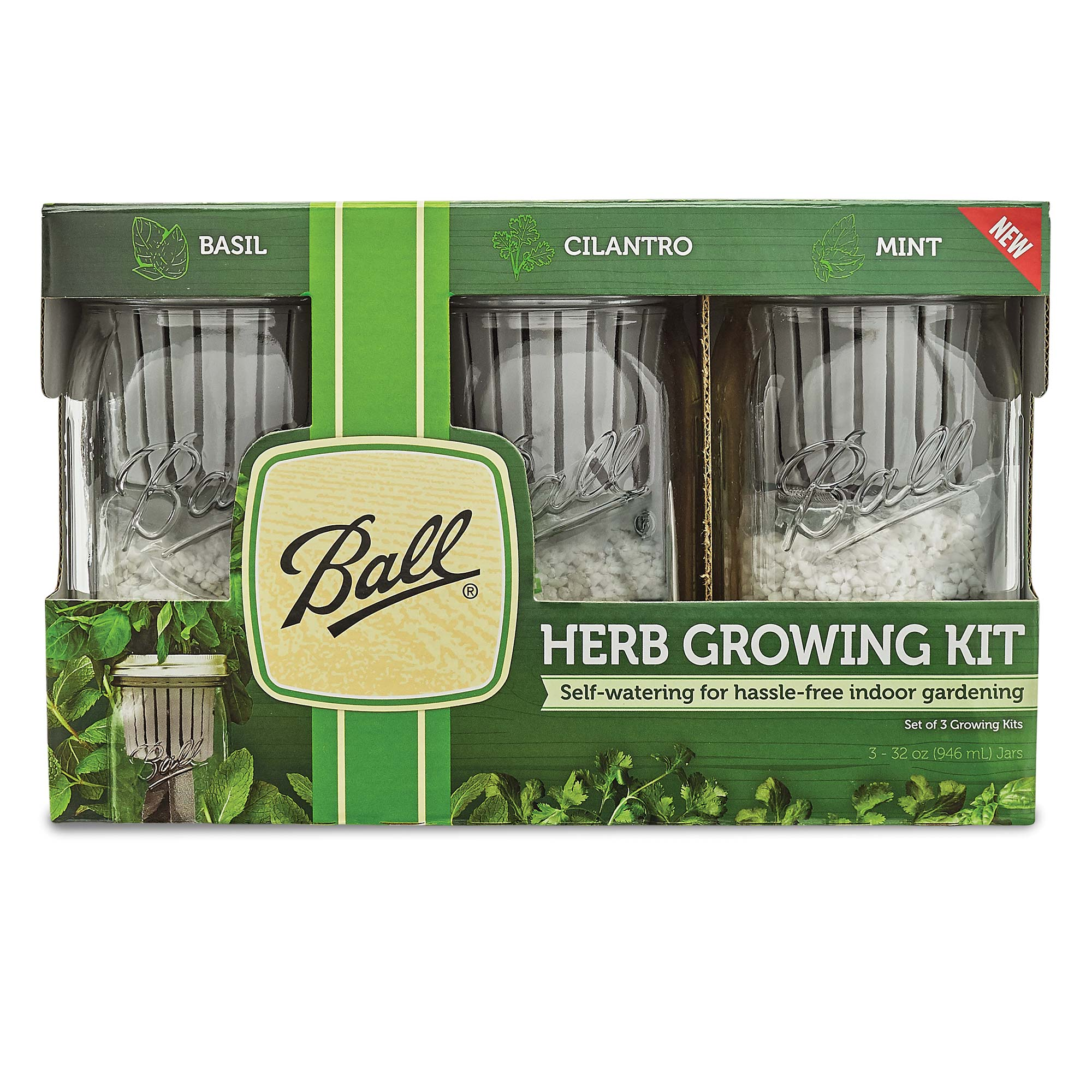 Herb Kits For Indoors: Ball Indoor Herb Growing Kit, 3-Pack
