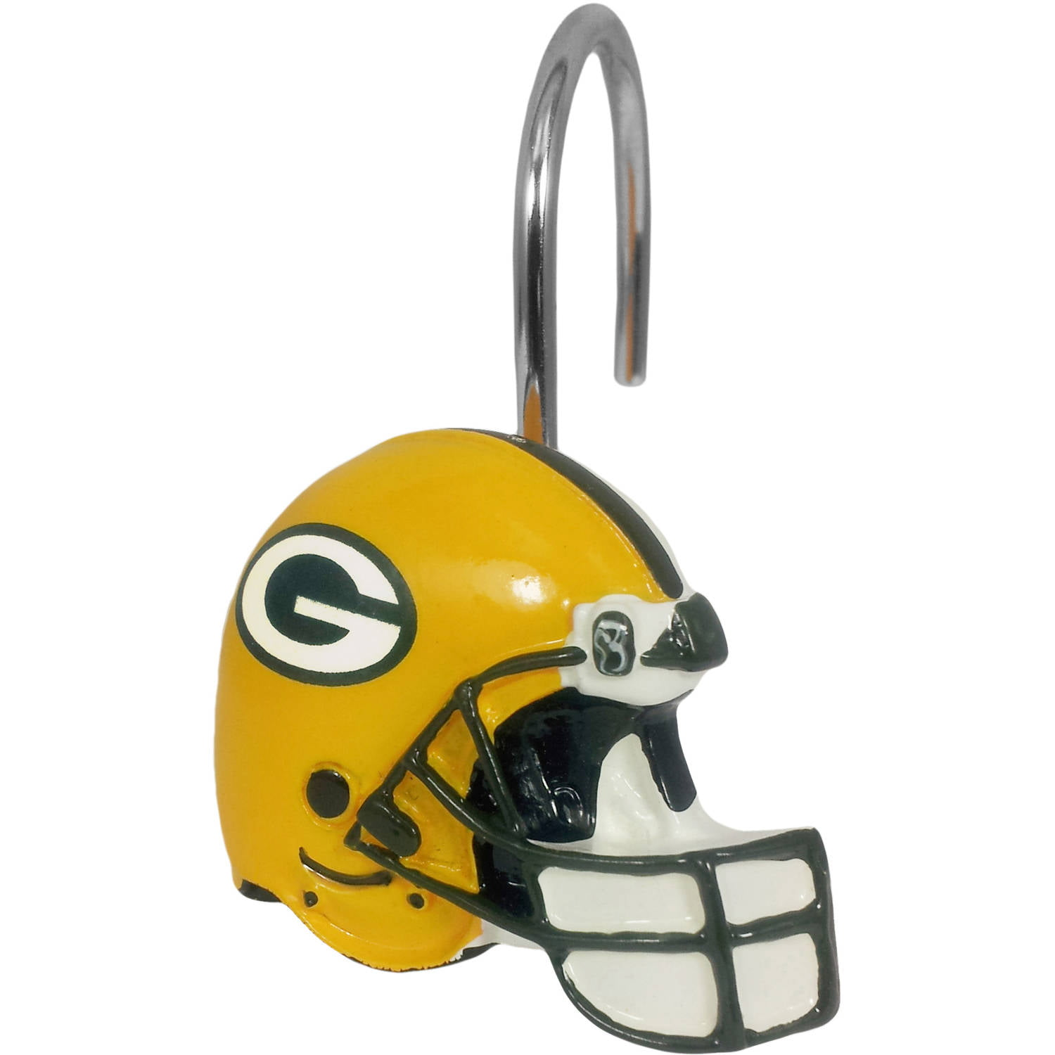 Nfl Green Bay Packers Decorative Bath Collection 12 Pack Shower Hooks