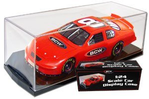 (4) 1 24 Scale Die Cast Car Display Case Holders, Holds a 1:24 scale die cast car By BCW,USA by