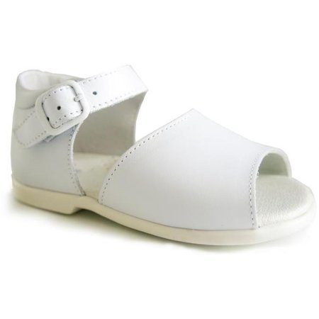 Unisex Casual Leather Sandals for Girls & Boys, White - Size 6 - image 1 de 1