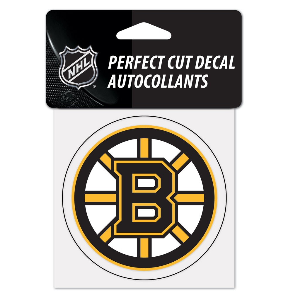Boston Bruins Official NHL 4 inch x 4 inch  Die Cut Car Decal by Wincraft