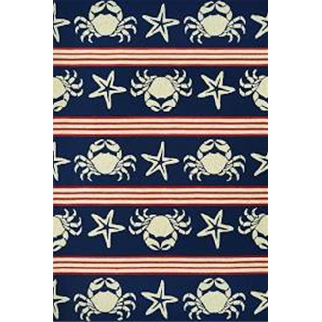Couristan 42924117056080T 5 ft. 6 in. x 8 ft. Outdoor Escape Blue Claws Rug, Navy - image 1 of 1