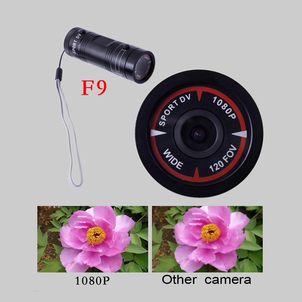 120 FOV Video Recorder DV Camcorder Mini F9 HD 1080P Bike Motorcycle Helmet Sport Camera