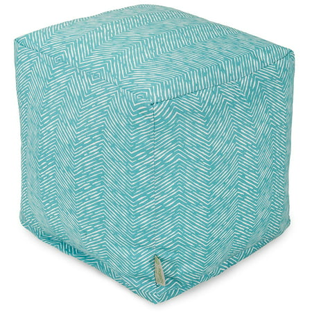 Majestic Home Goods SouthWest Indoor/Outdoor Ottoman Pouf Cube ()