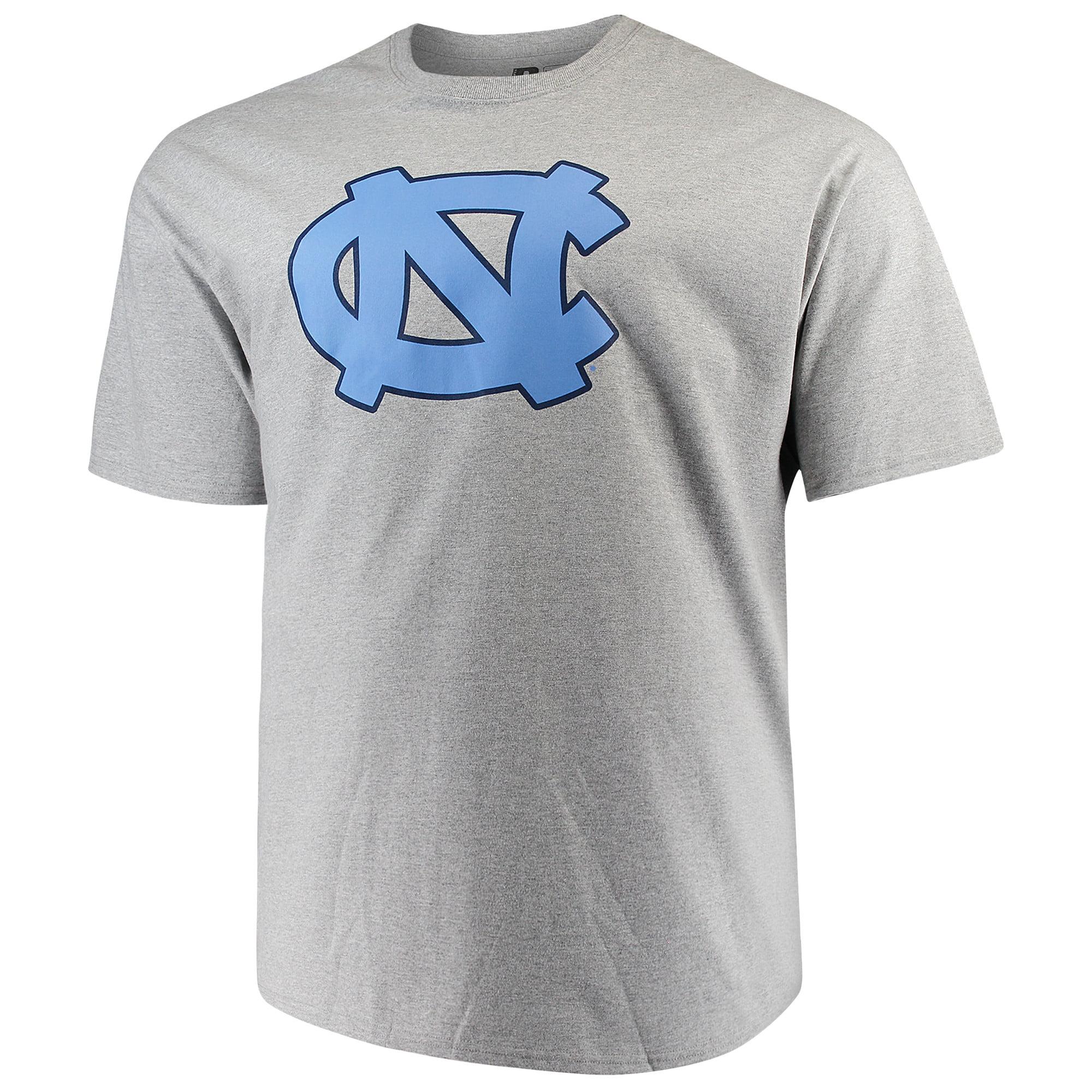 Men's Heathered Gray North Carolina Tar Heels Big & Tall Classic Crew Neck T-Shirt