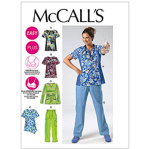 McCall's Pattern Misses' and Women's Tops and Pants, RR (18W, 20W, 22W, 24W)