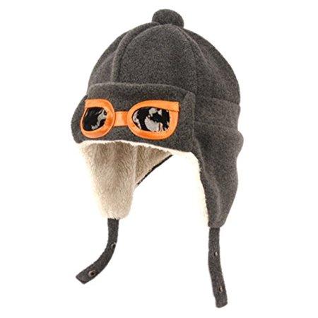 Peach Couture Kids Fleece Trooper Aviator Mohawk Hats - Kids Aviator Hat
