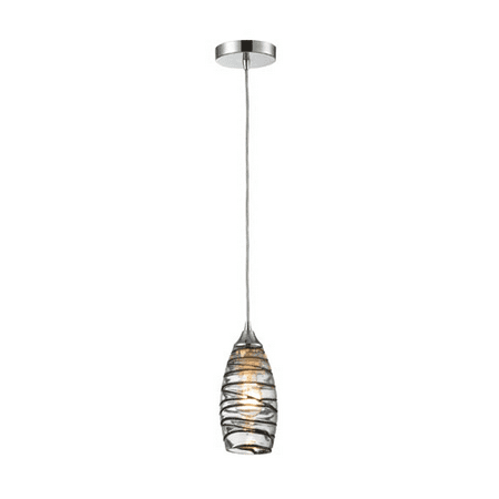 Pendants 1 Light With Polished Chrome Finish Vine Wrap Glass Medium Base 5 inch 75 Watts - World of Lamp