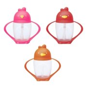 Lollacup Infant And Toddler Straw Cup, 2 Pack - Pink/Orange/Red