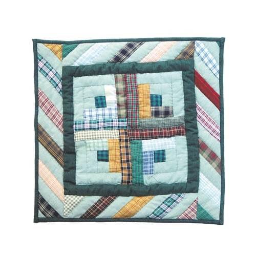 Diamond Log Cabin Toss Pillow